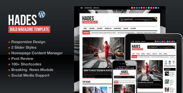 ThemeForest Hades Bold Magazine Newspaper Template 3068665