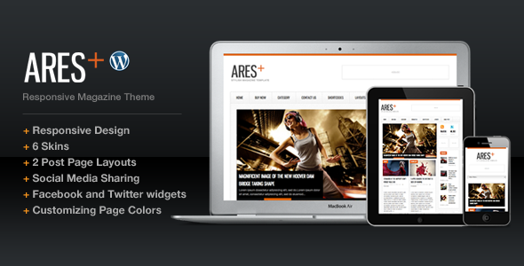 ThemeForest Ares Blog Magazine Newspaper Template 918661