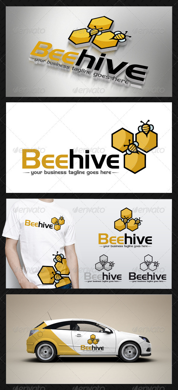 GraphicRiver Bee Hive Logo Template 3677709
