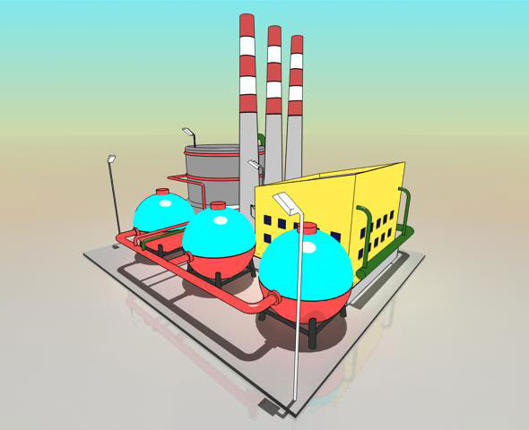 Simple Cartoon Factory by multibazaar | 3DOcean