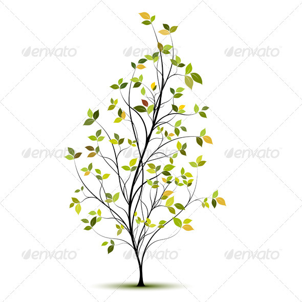 GraphicRiver Young Tree Vector 3678946