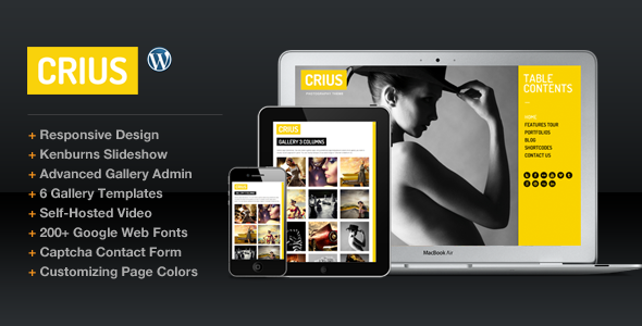 ThemeForest Crius Responsive Photography Creative Portfolio 2304486