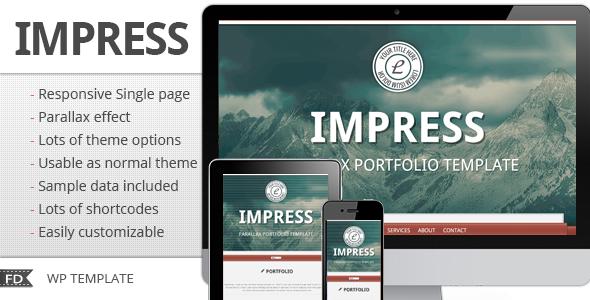 ThemeForest Impress Responsive parallax single page theme 3471527
