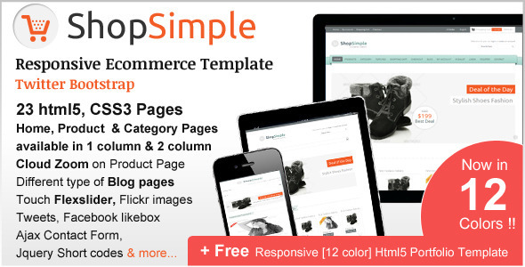ThemeForest ShopSimple Responsive Ecommerce Template 3211115