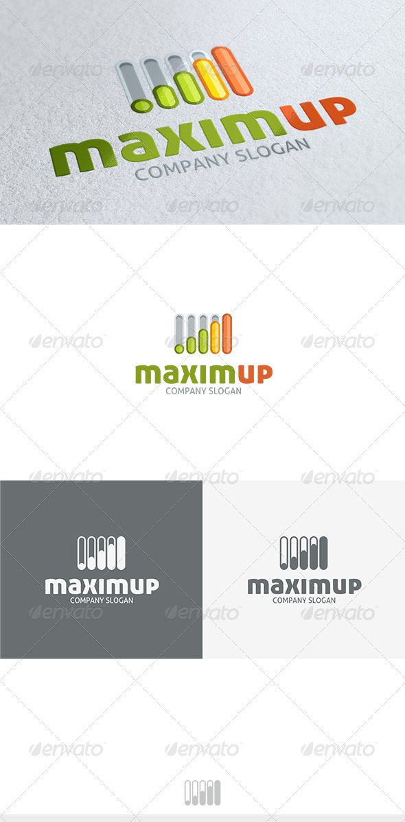 GraphicRiver Maxim Up Logo 3680122