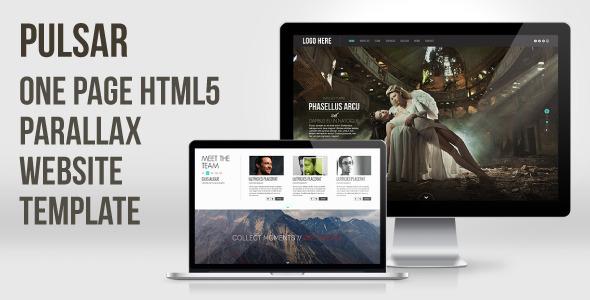 Pulsar - One Page HTML5 Parallax Website Template - Creative Site Templates
