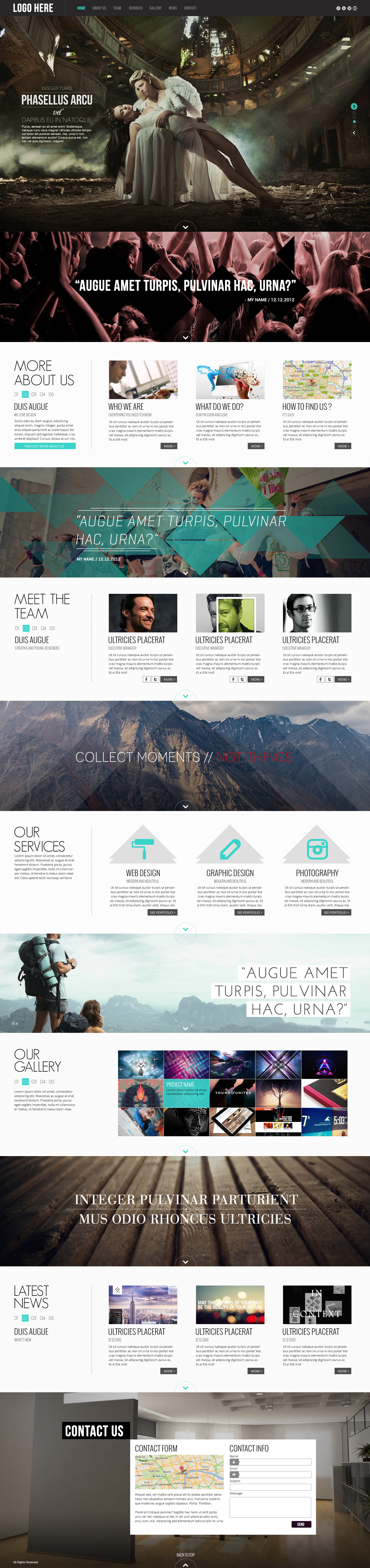 parallax design template