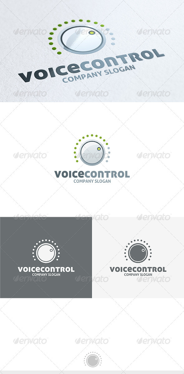 GraphicRiver Voice Control Logo 3680488