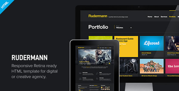 Rudermann Responsive Retina Ready HTML Template