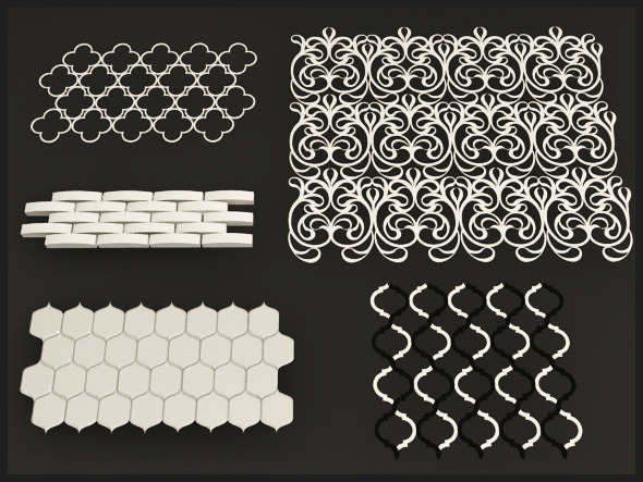 3DOcean Interior Wall and Floor Tile Set 3674591