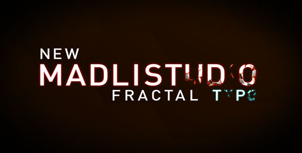 VideoHive Animated Fractal Typeface 3681150