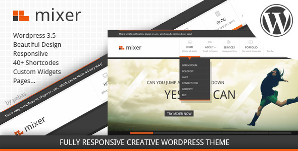 Mixer - Creative Responsive WP Theme