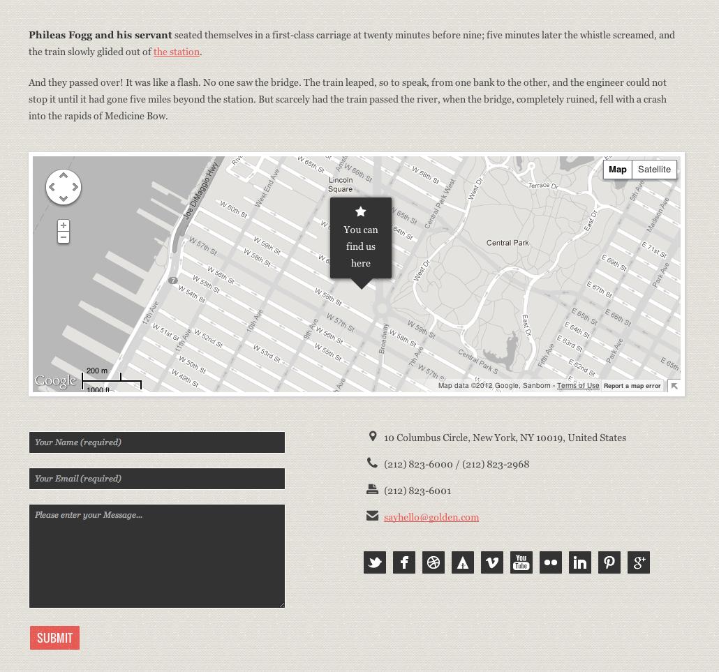 GOLDEN - Responsive Vintage HTML5/CSS Template