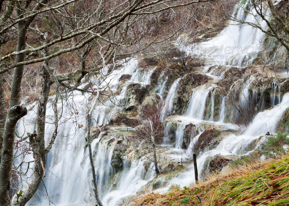 PhotoDune Covalagua waterfall in northern Palencia 3682203