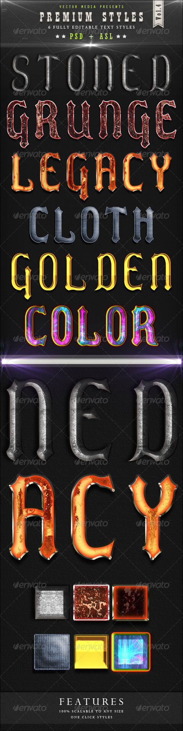 Premium Text Styles - Vol.4 - Text Effects Styles