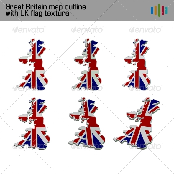 GraphicRiver Great Britain Flag Map 3D 3682106
