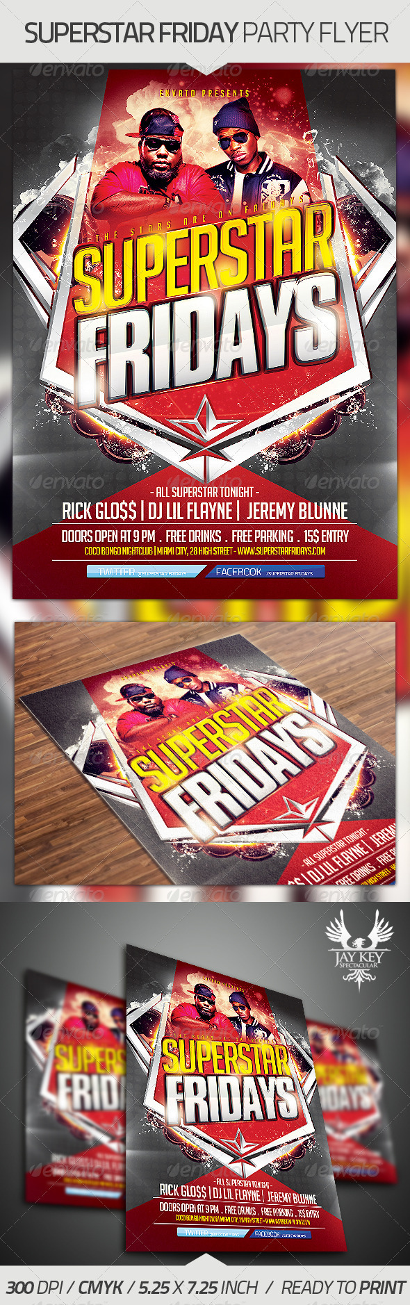 GraphicRiver Superstar Fridays Party Flyer 3682832