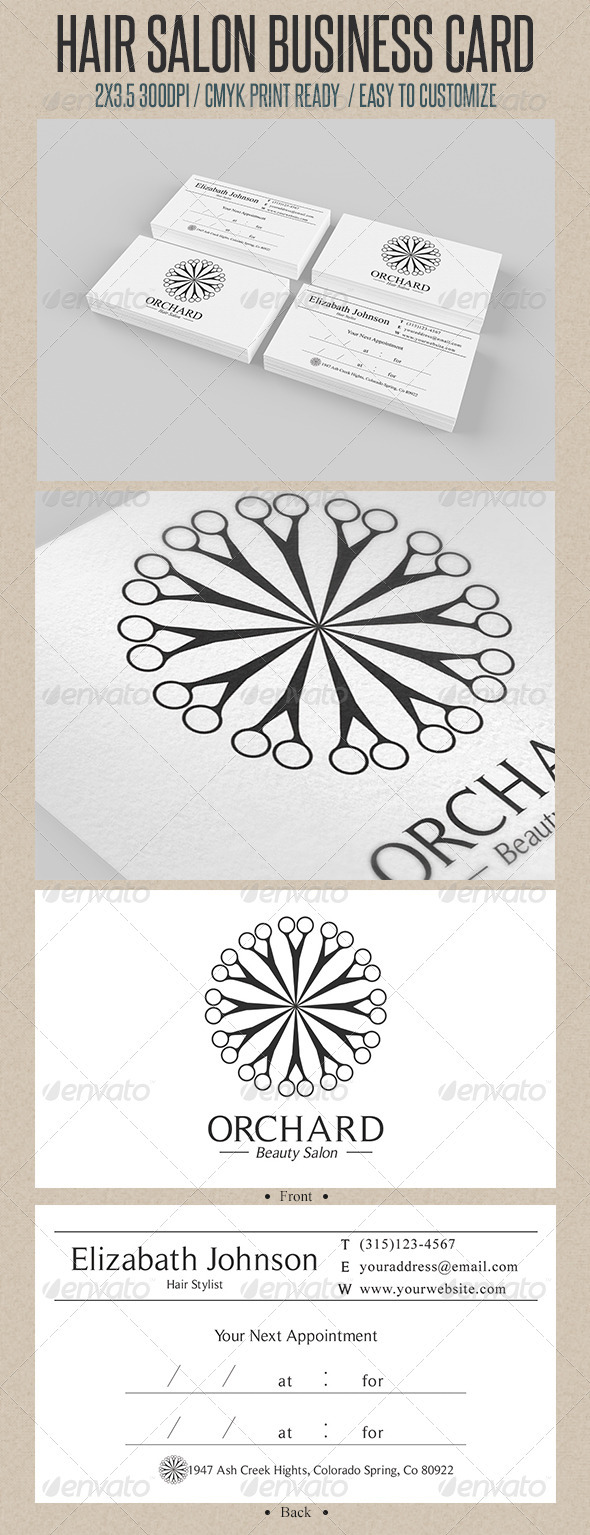Beauty Salon Business Card Graphicriver