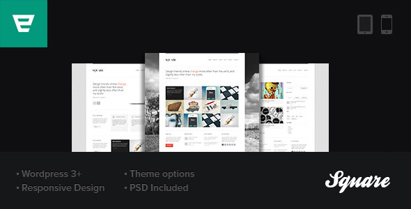 ThemeForest Square Responsive Wordpress Theme 3007657