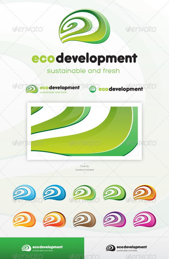GraphicRiver Eco Development Logo 3683629