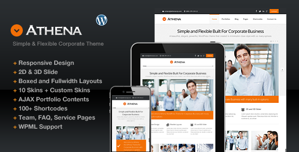 ThemeForest Athena Simple Flexible Corporate Business Theme 3670986