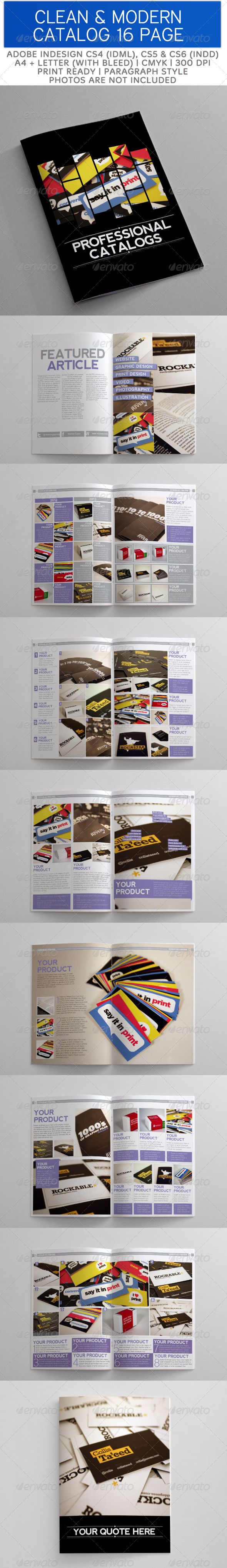 GraphicRiver Clean and Modern Catalog Template 16 Page 3399984