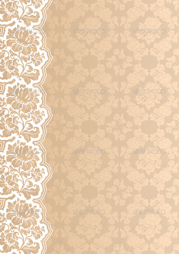 GraphicRiver Flower Background with Lace 3683899