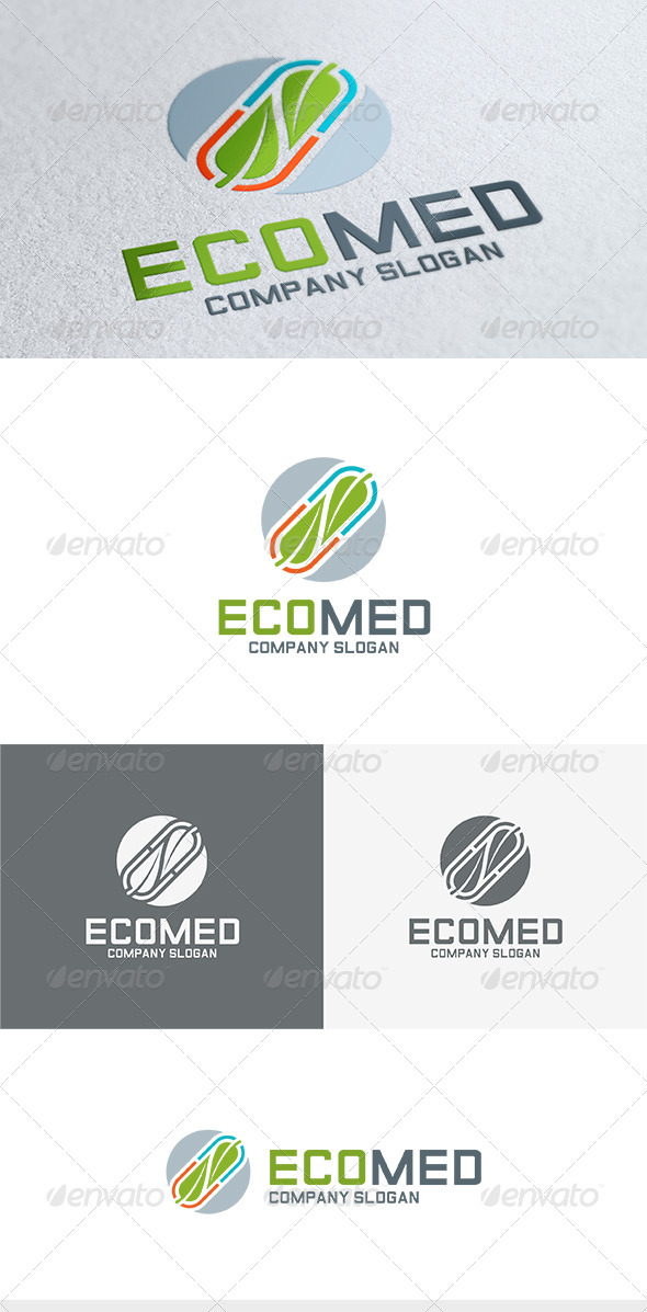 GraphicRiver Eco Med Logo 3683998