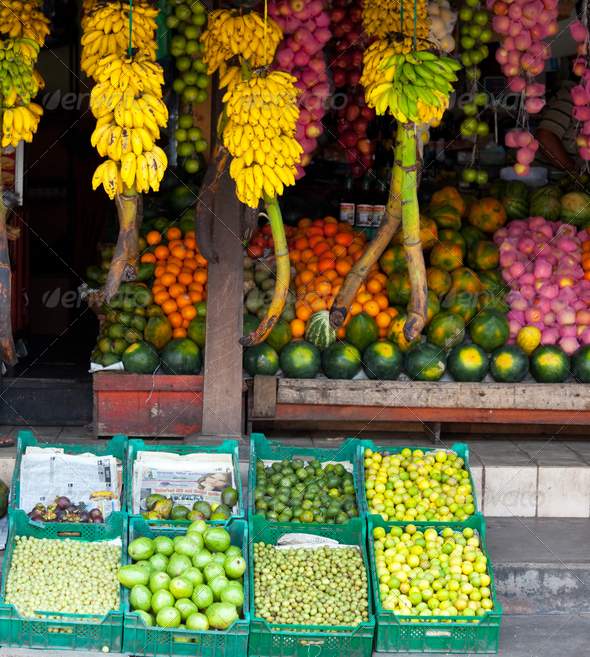 Fruit market - Stock Photo - Images