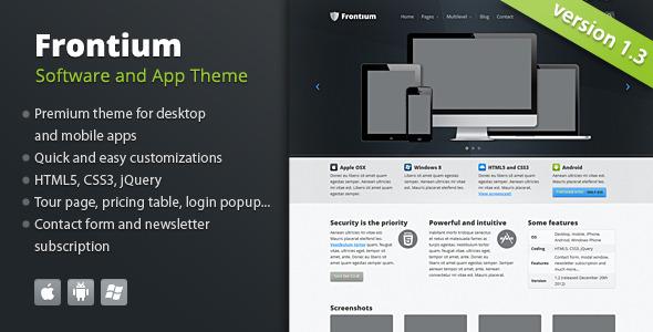 ThemeForest Frontium Premium Software and App 2372185