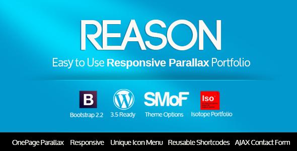 ThemeForest Reason Wordpress Responsive Parallax Theme 3660562
