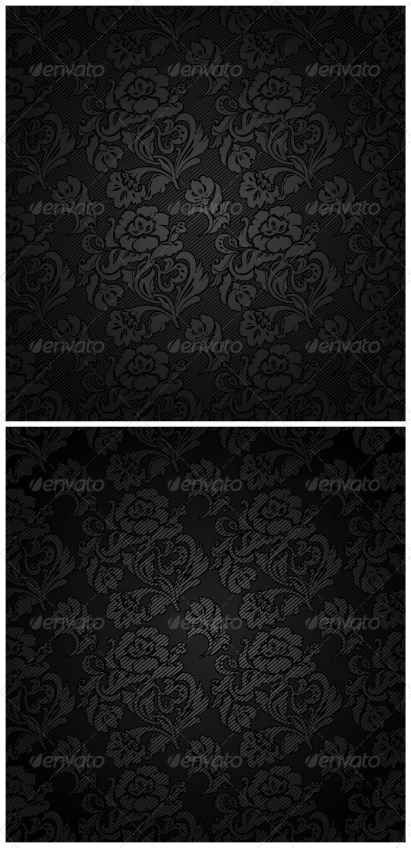 GraphicRiver Corduroy Background Ornamental Flowers Fabric 3684821