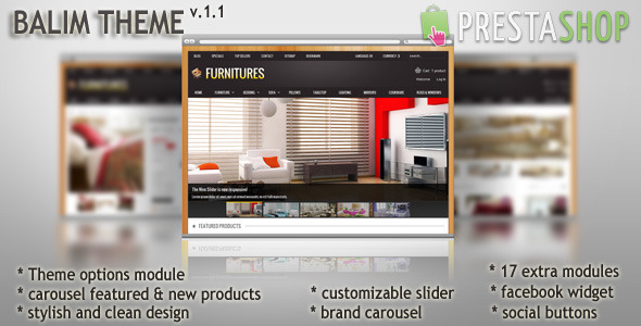 ThemeForest Balim Prestashop Theme 3475597