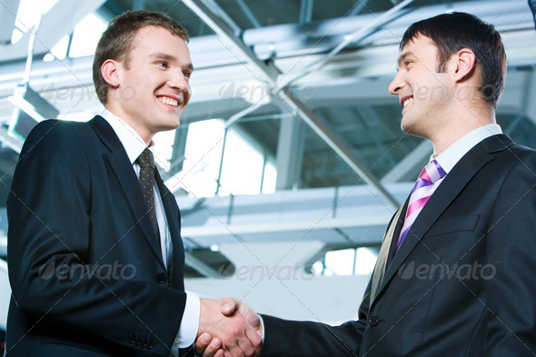 Male handshake - Stock Photo - Images
