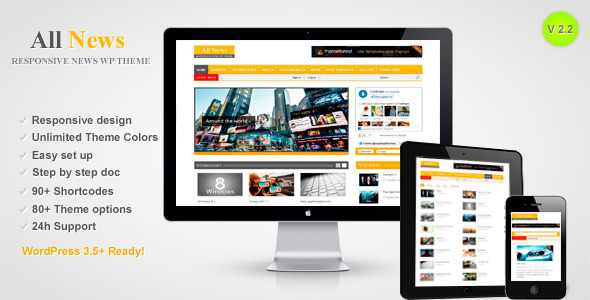 ThemeForest All News Responsive WordPress News Theme 3380660