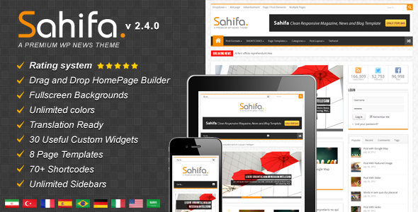 ThemeForest Sahifa Responsive WordPress News Magazine Blog 2819356