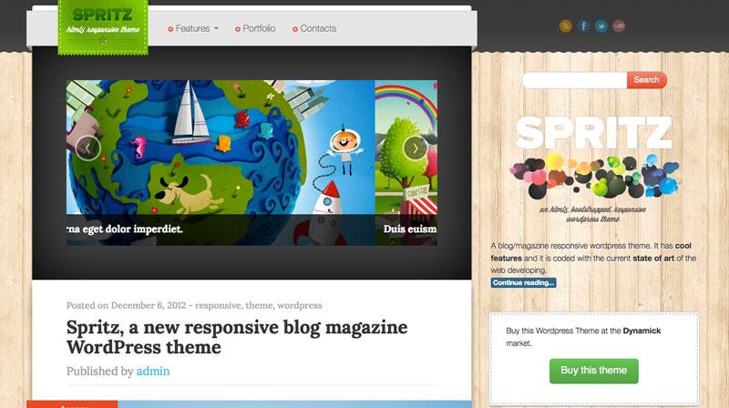 Spritz HTML5 Responsive Theme