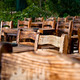 Empty Wooden Chairs and Tables - PhotoDune Item for Sale
