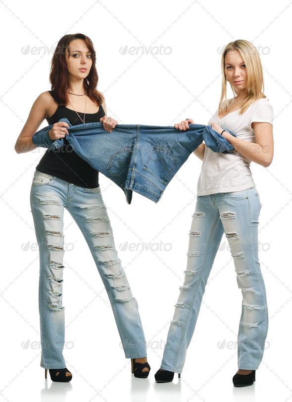 PhotoDune Young women depriving for jeans 3686280