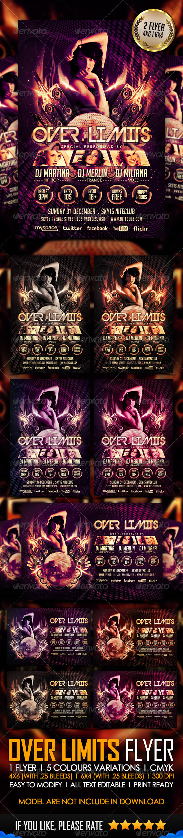 GraphicRiver Over Limits Flyer Template 3602293