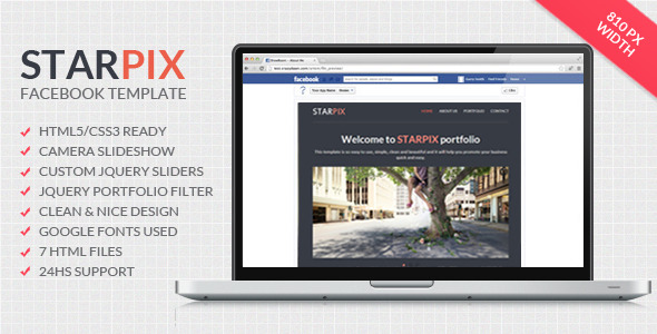 Starpix - Multipurpose Facebook Template