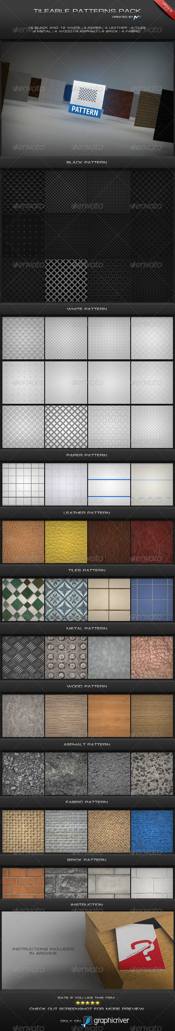 Tileable Patterns Pack - Photoshop Add-ons