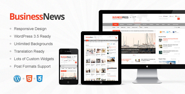 ThemeForest Business News Responsive Magazine News Blog 3650529