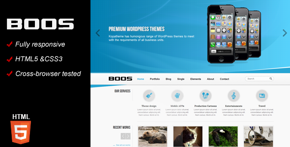 BOOS Responsive HTML5 Template - Corporate Site Templates