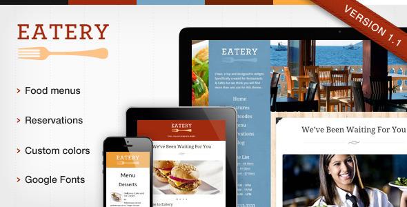 ThemeForest Eatery Responsive Restaurant WordPress Theme 3469316