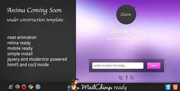 ThemeForest Anima Coming Soon Template 3444150
