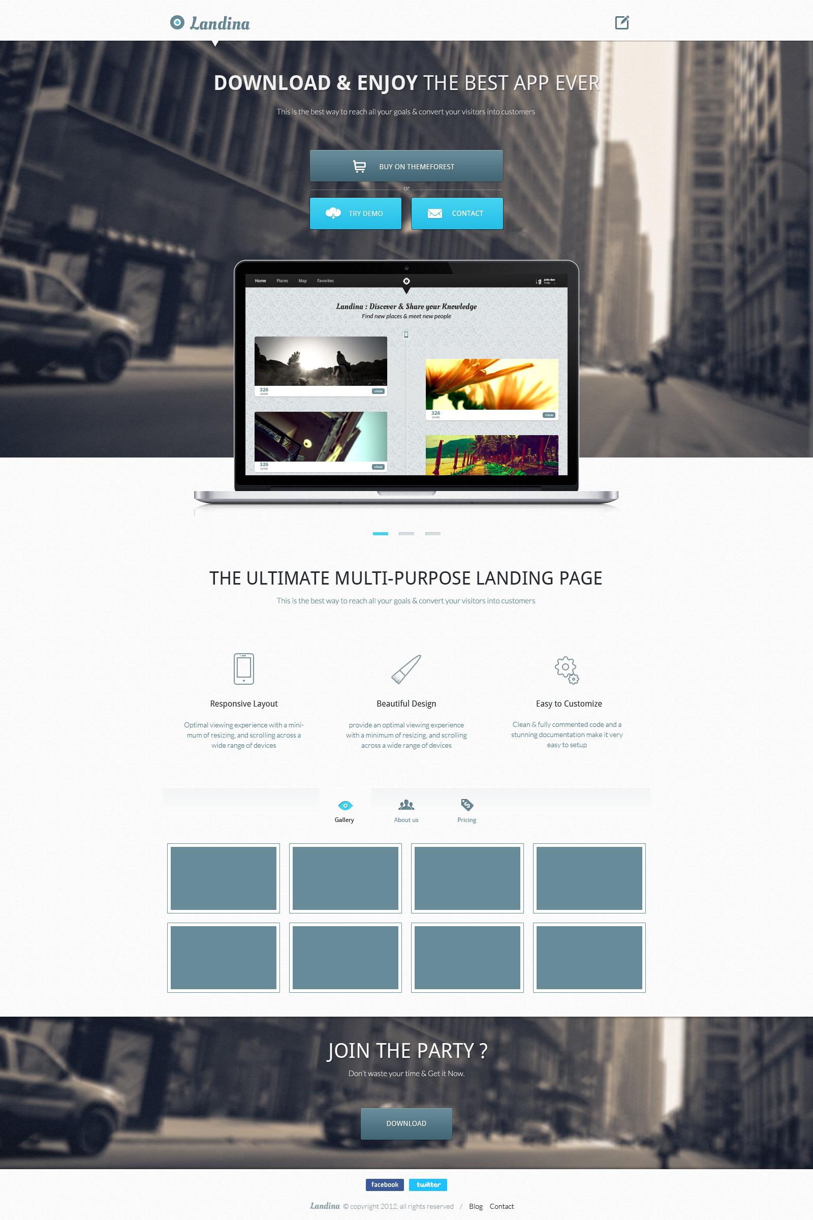 Landina - Responsive Landing Page