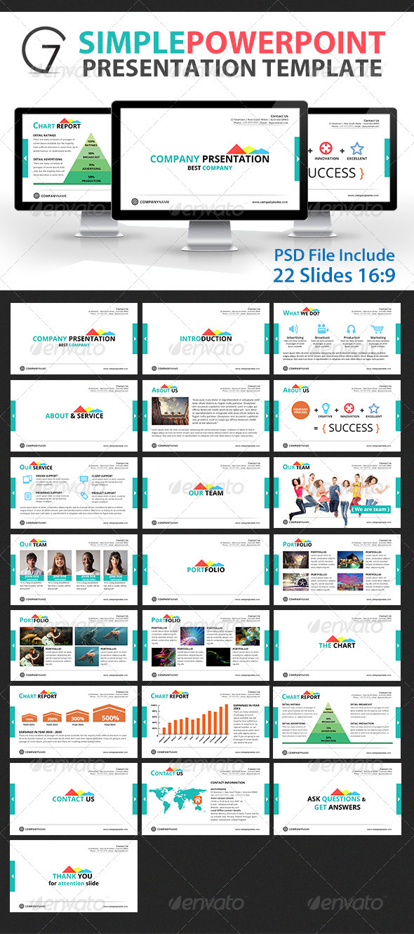 Gstudio Simple Powerpoint Presentation Template  - Powerpoint Templates Presentation Templates