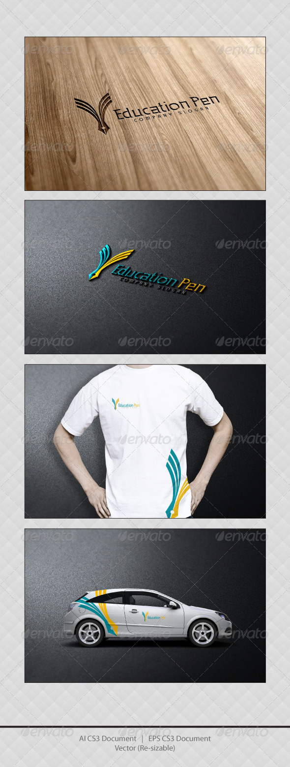 GraphicRiver Education Pen Logo 3652284