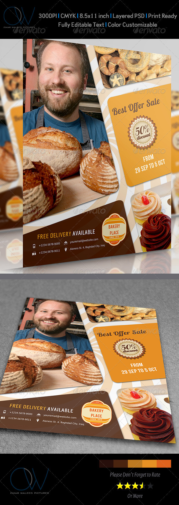 GraphicRiver Bakery Flyer 3621112